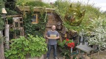 Kevin Herbert and his shed West Wing (Cuprinol/PA)