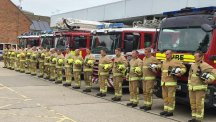 Rescue service observing a minute's silence to remember those who lost their lives in the Shoreham Air crash.