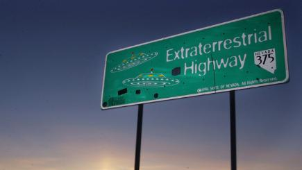 Sign that says Extraterrestrial Highway