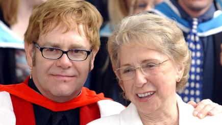 Sir Elton John pays tribute to mother after her funeral