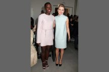 Sitting pretty in pastel at Calvin Klein was Lupita Nyong'o and Naomi Watts.