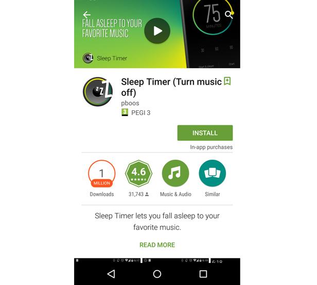Sleep Timer app