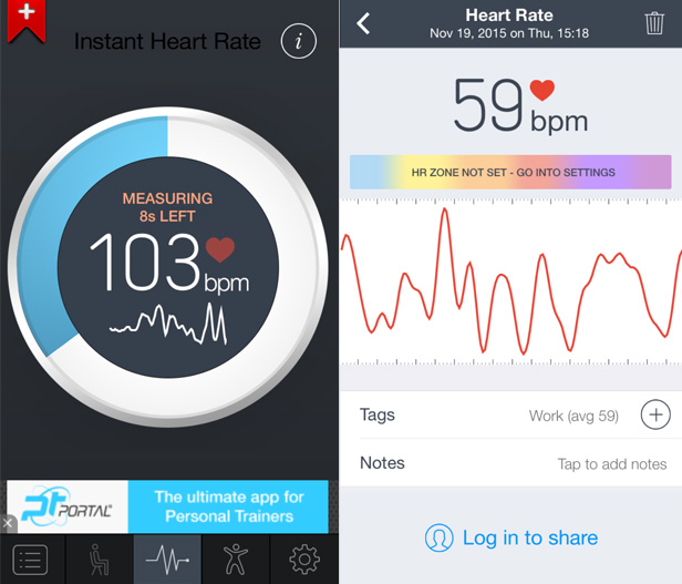 Smartphone secrets - instant heart rate