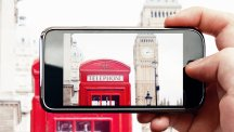 Person taking smartphone photo of Big Ben