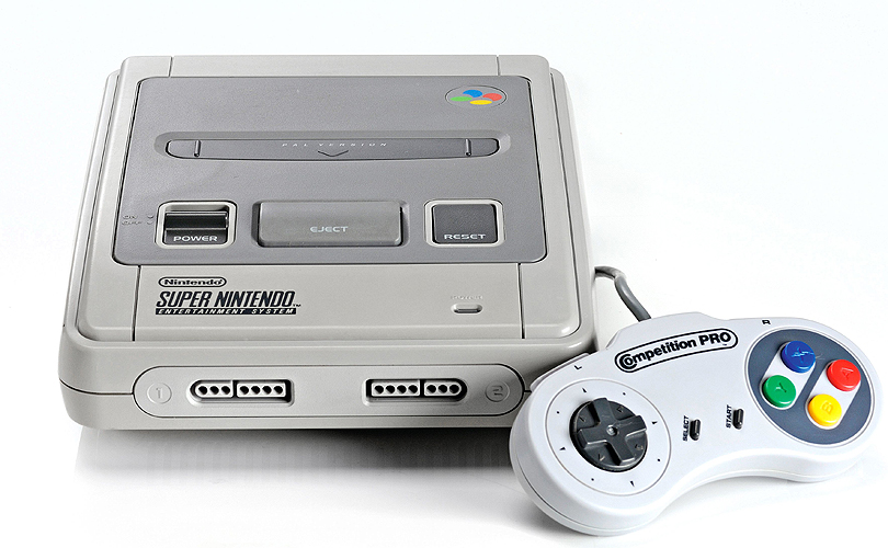 A Super Nintendo Classic games console