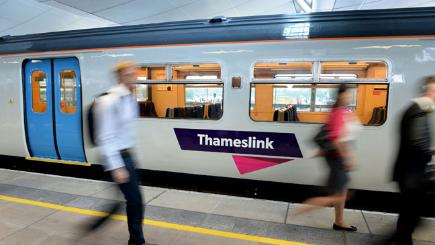 A Thameslink train