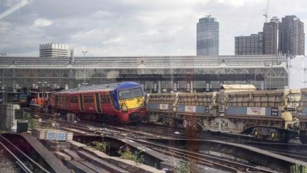 London Waterloo chaos after train collides with wagon