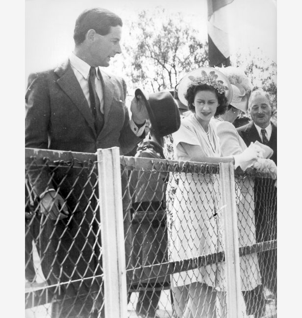 Townsend and Princess Margaret on a tour to South Africa in 1953.