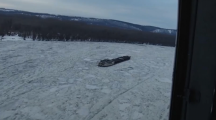Spare a thought for the people on this ship that's frozen in the River Danube