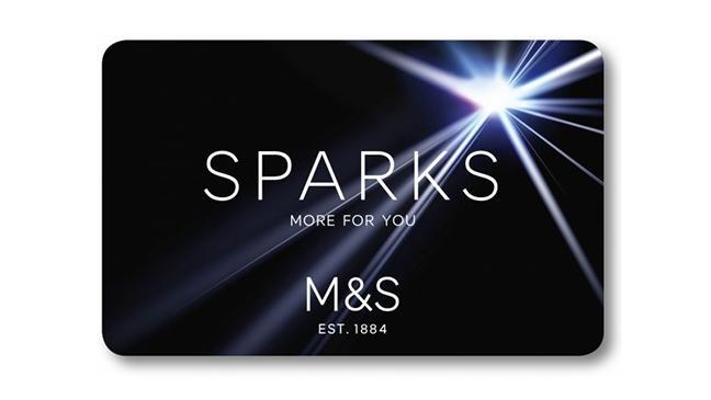 M&S Sparks card