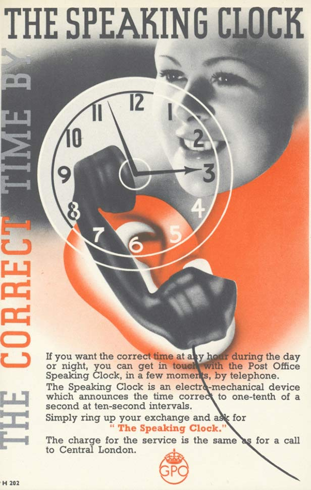 Customer information on the Speaking Clock