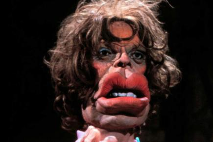 Spitting Image puppet of Mick Jagger
