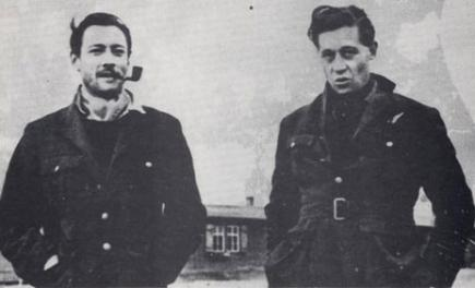 Squadron Leader Roger Bushell (right) pictured with Wing Commander Bob Tuck