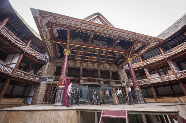 The Globe's stage, galleries and pit were modelled on theatres of Shakespeare's day.