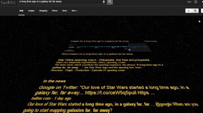Star Wars Fan Try Typing A Long Time Ago In A Galaxy Far Far Away Into Google Bt