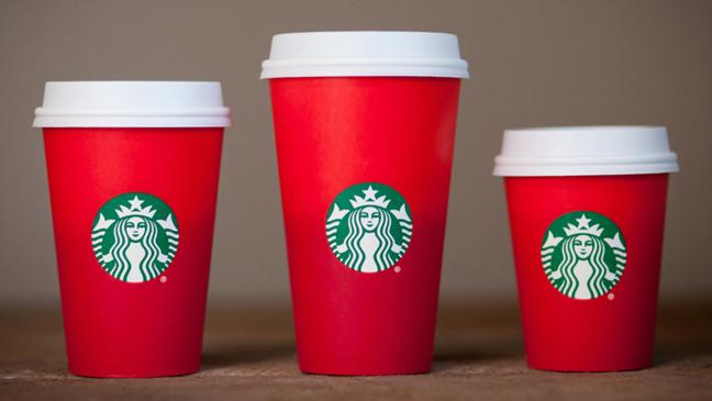 Starbucks Christmas Coffee Mugs.Starbucks Christmas Coffee Cups Accused Of Lacking Festive