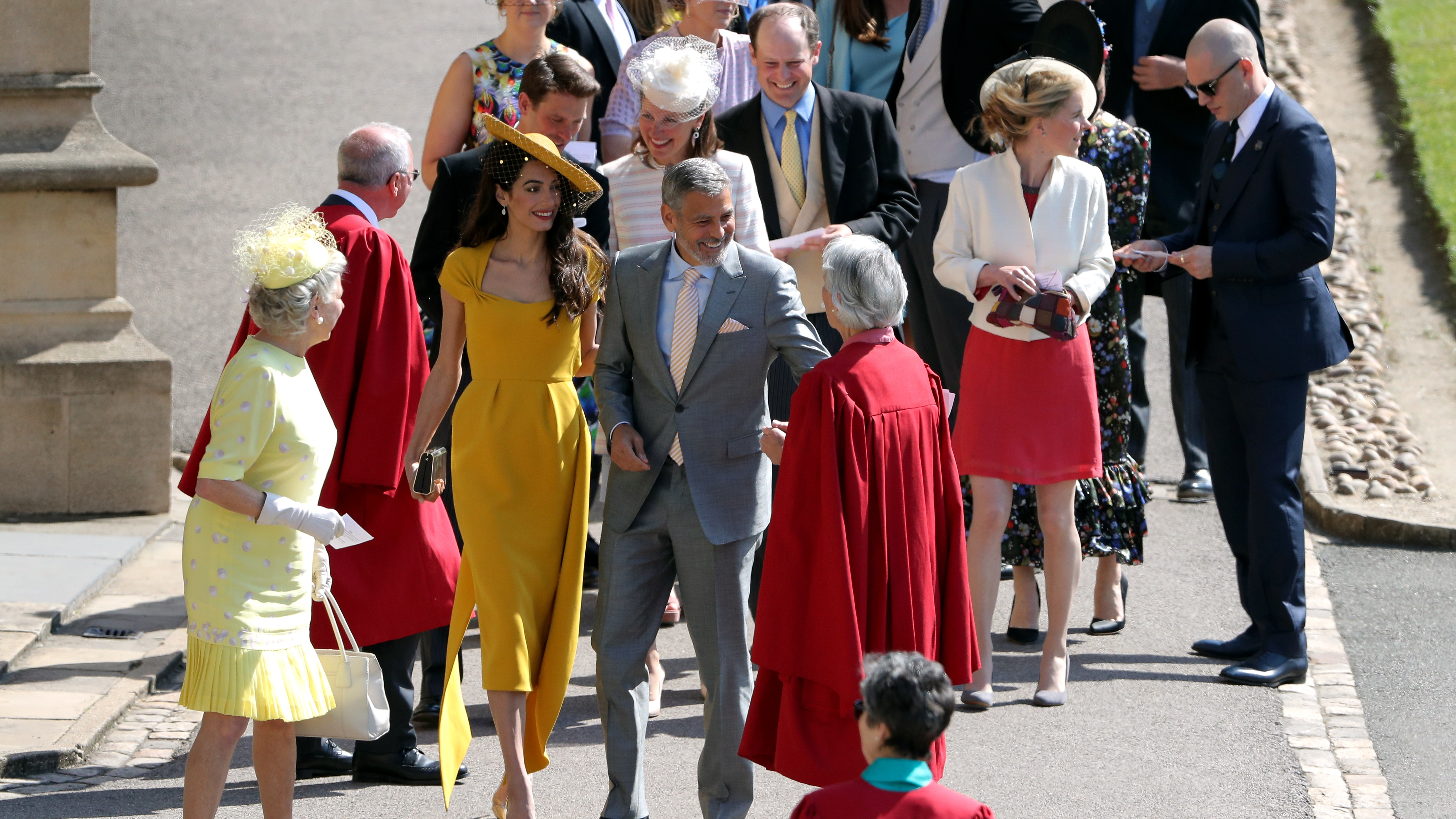 Oprah At Prince Harry Wedding.Stars Including George Clooney And Oprah Arrive For Wedding Of Harry