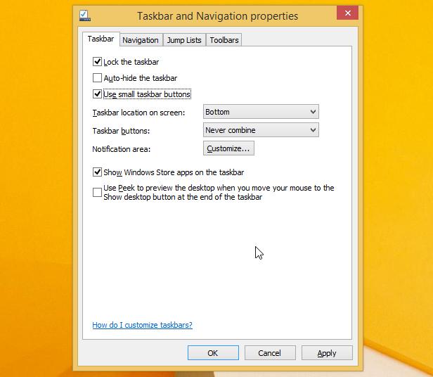 Move Desktop Icon Taskbar Vista