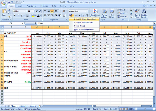 How to create a budget using Microsoft Excel - BT