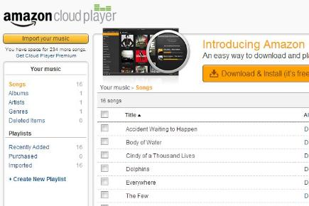 Step 4: Take to the cloud - Amazon Cloud Player