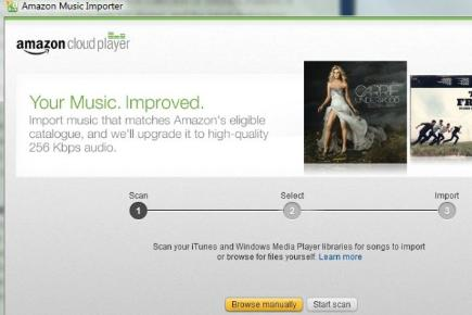 Step 5: Let Cloud Player import your music