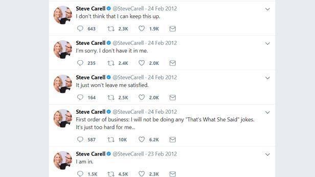 Steve Carell Twitter