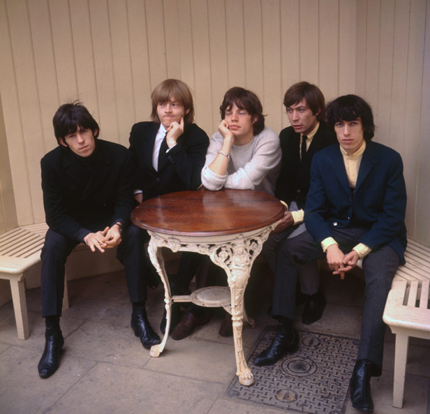 The Rolling Stones' classic line-up in 1964 - Keith Richards, Brian Jones, Mick Jagger, Charlie Watts and Bill Wyman.