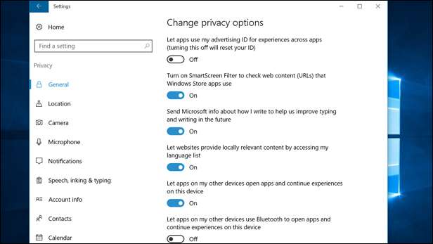 Protect your privacy on Windows 10