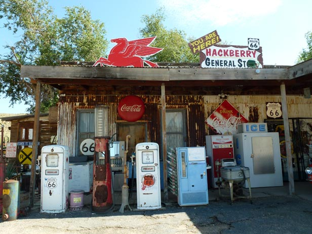 The Hackberry General Store at the historic Route 66 between Kingman and Seligman, Arizona.