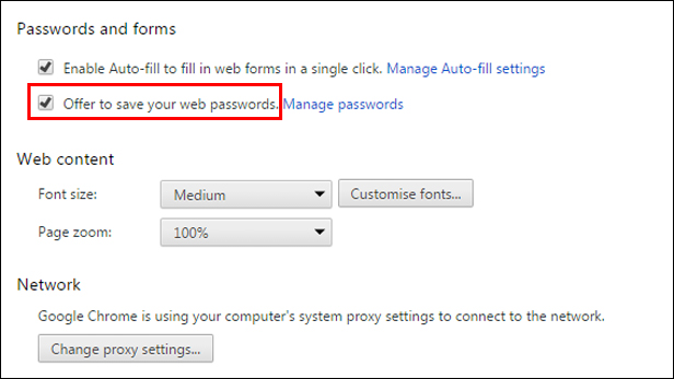 How to make your web browser remember passwords - BT