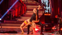 Judge Rob Rinder dancing in the live show on September 23. Photo credit: BBC/Guy Levy