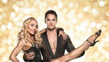 Strictly Come Dancing contestant Thom Evans with his partner Iveta Lukosiute.