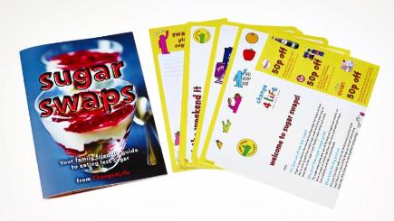 Sugar swap cards have been issued to encourage parents to cut back on the amount of sugar they feed their children (Public Health England/PA)