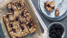 Sweet blackberry caramel blondies