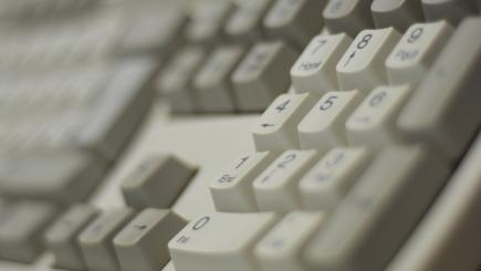 Keyboard close up