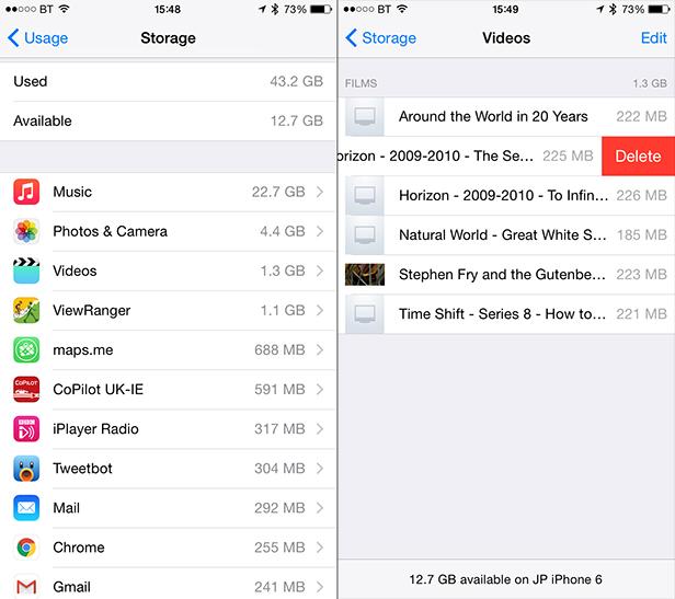 iOS increase storage sapce