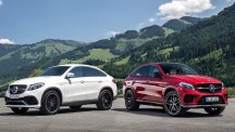 Mercedes-Benz GLE and GLE Coupe side-by-side.