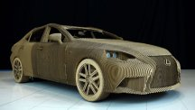 Replica of Lexus IS saloon made from cardboard