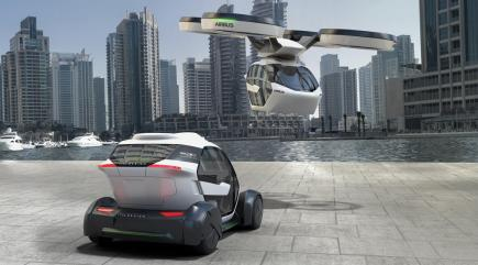 Take a look at this futuristic self-driving electric flying car