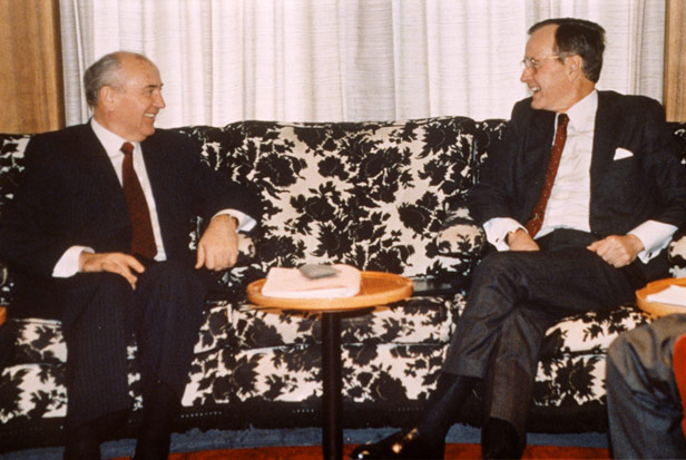 Gorbachev and Bush at the Malta summit
