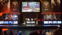 Teams competes during the Call of Duty European Championships at the Royal Opera House, central London