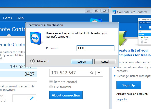 how to fix password on teamviewer