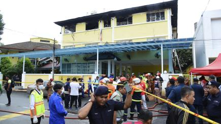 Teenagers among 24 killed in fire at school in Kuala Lumpur