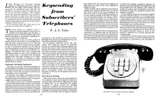 Telecomms Journal 1960