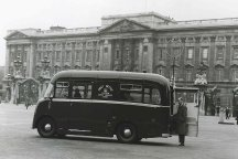 Television van outside Buckingham Palace for the Coronation. 1953.