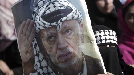 Tens of thousands mark Arafat death anniversary in Gaza