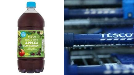 "Tesco recalls ""foul-smelling"" apple squash drink"