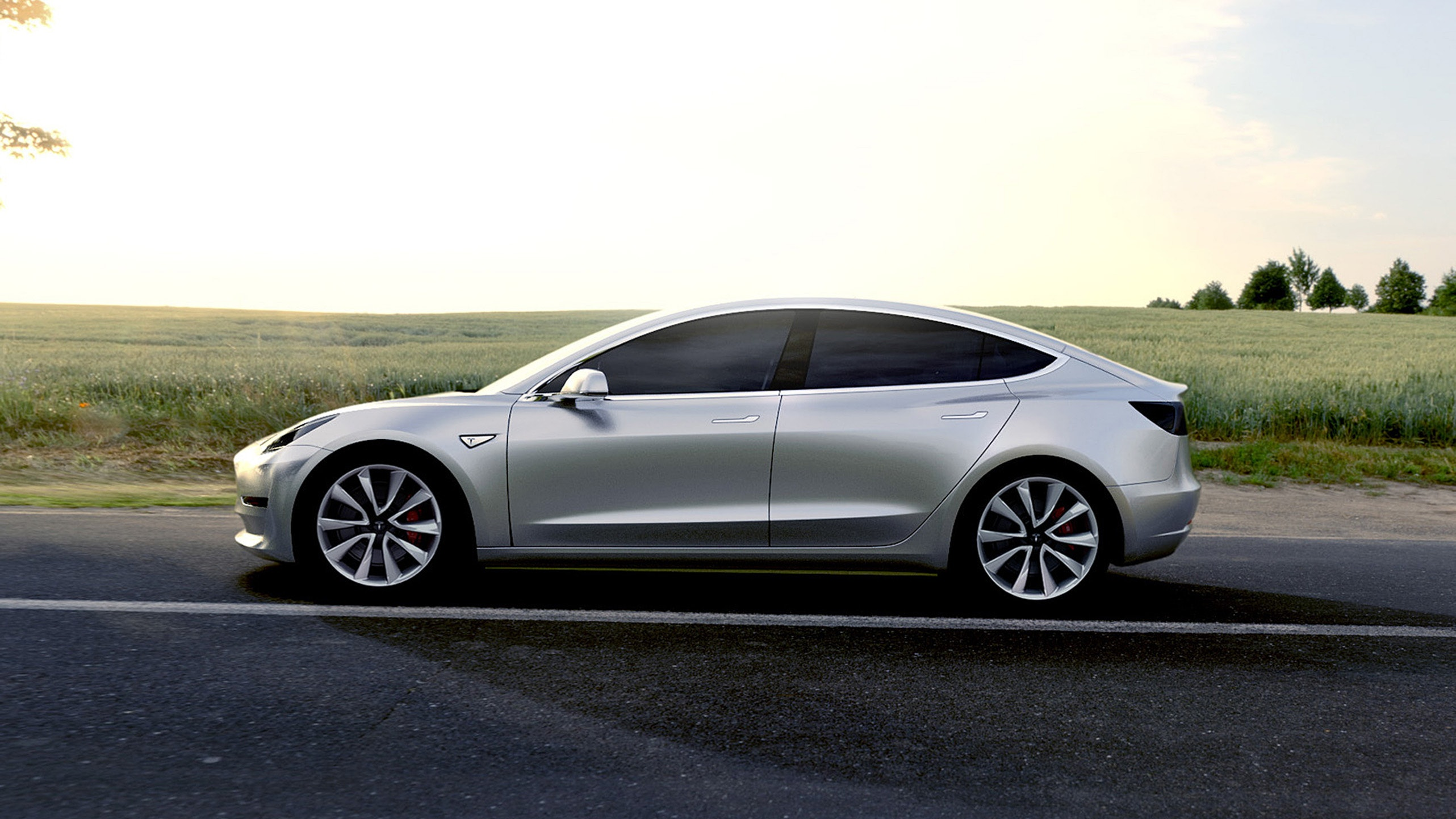 Musk announced the release of an all-wheel drive Tesla