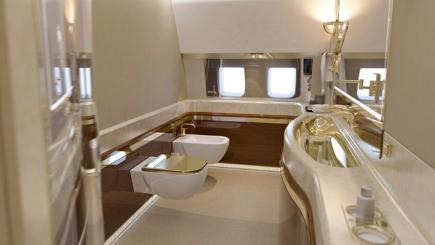 The bathroom onboard President Putin's plane
