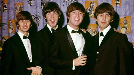 The Beatles, (from left to right) Ringo Starr, Paul McCartney, John Lennon and George Harrison